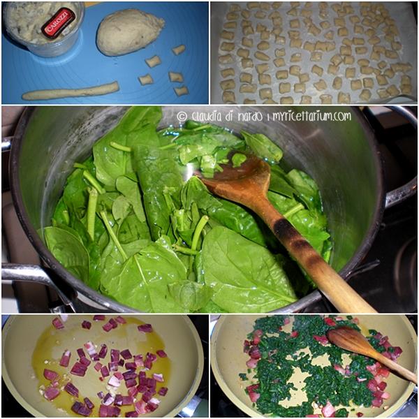 Gnocchetti al formaggio con spinaci e speck