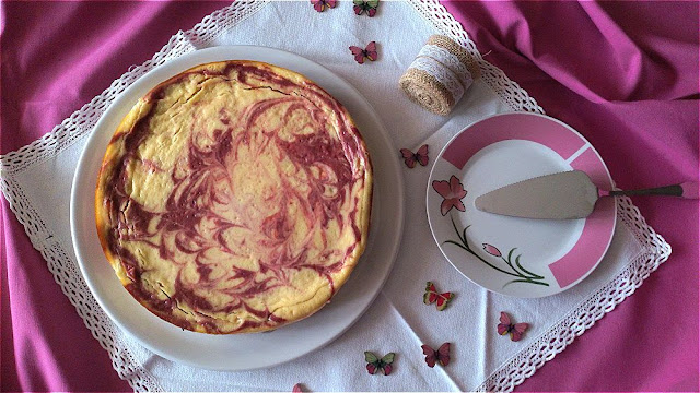 pastel turco marmolado yogur mermelada cereza gordom ramsay receta fácil sencilla rápida rica horno