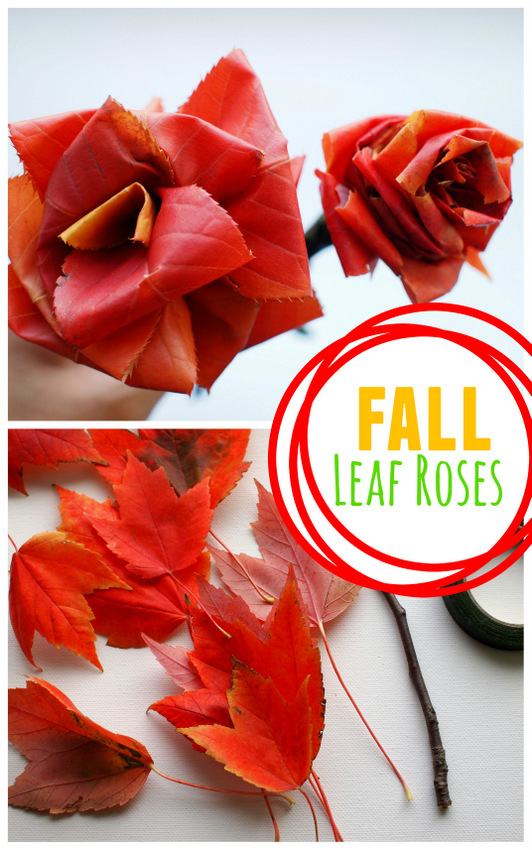 make fall flowers from autumn leaves
