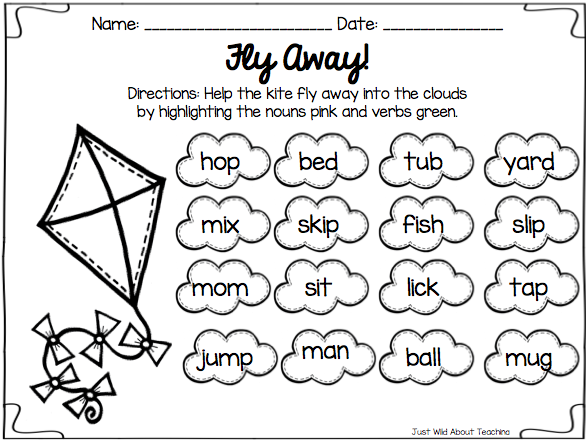 of Verb Worksheets For First Grade - Sharebrowse