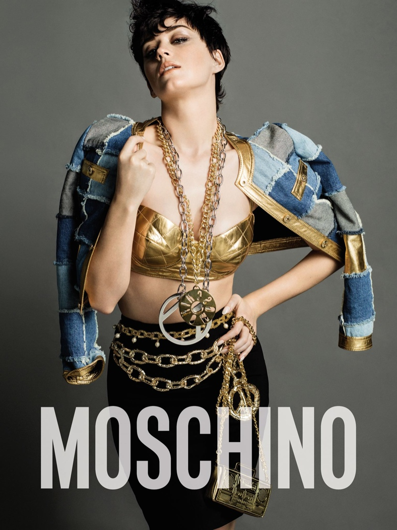Katy Perry stars for the Moschino Fall/Winter 2015 Campaign