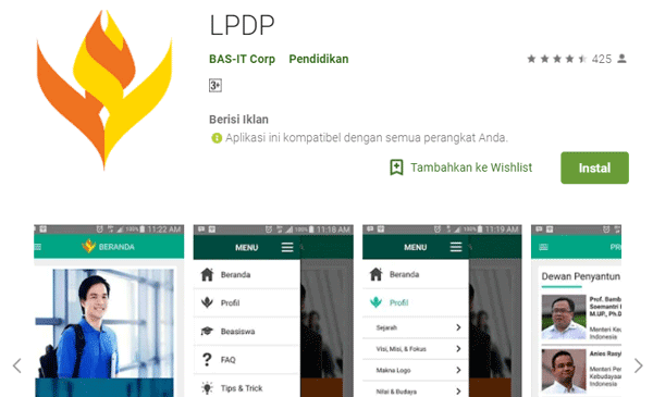 aplikasi lpdp mampu memberi informasi mengenai beasiswa serta trik dan tips untuk mendapatkan beasiswa