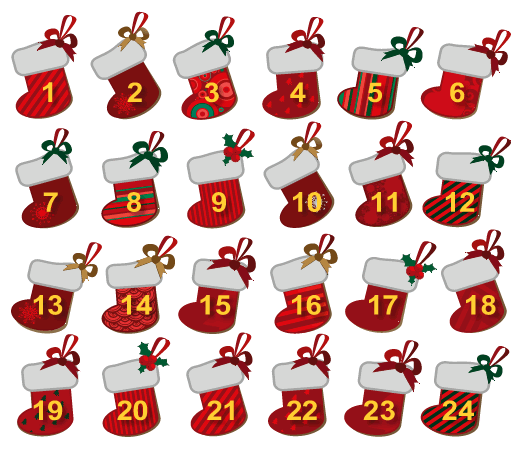 Christmas Calendar Pictures : Christmas countdown hd calendar for kids printable
