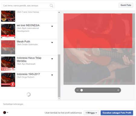 bingkai foto bendera indonesia merah putih berikibar