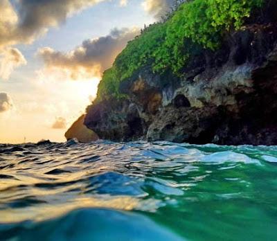 Pantai Green Bowl Beach Bali, Pantai Yang Indah di Bali