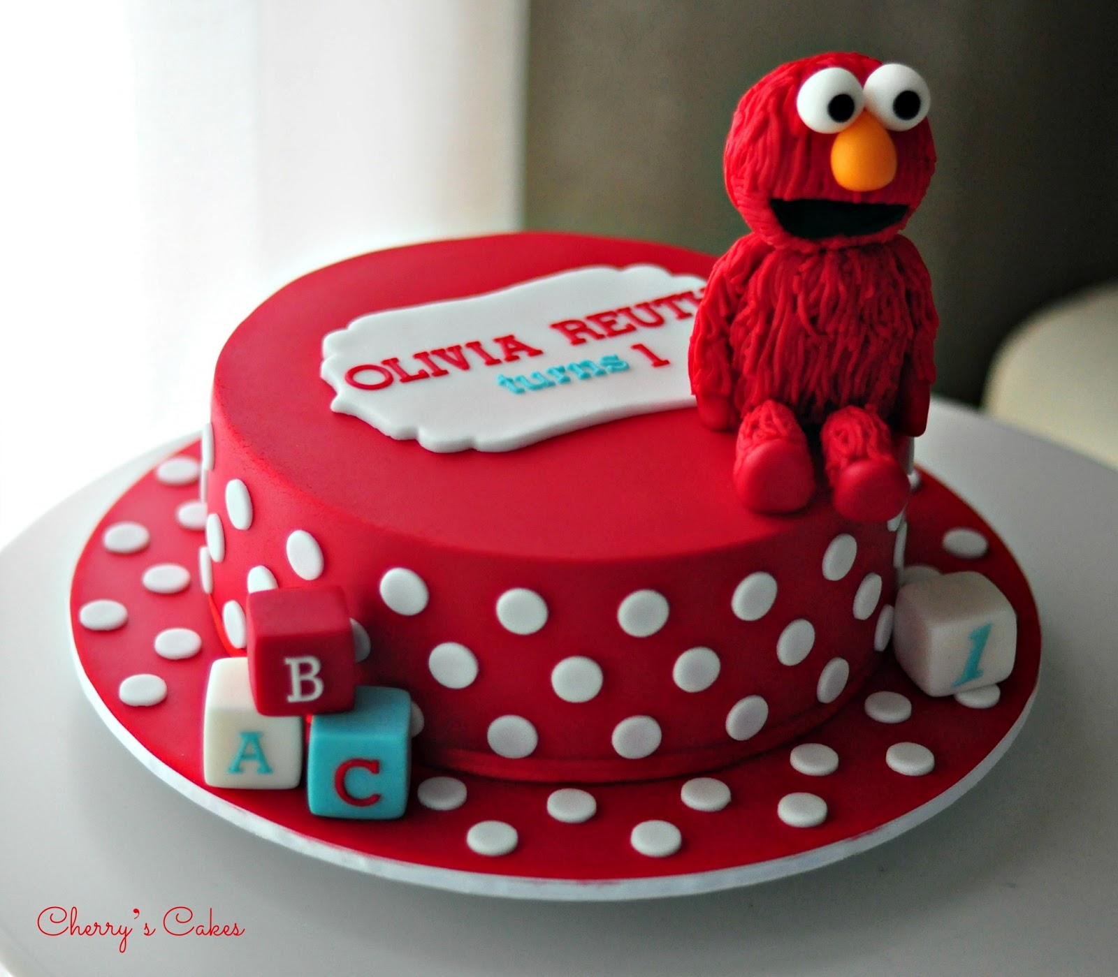 This is a Simple Example of a Birthday Cake Elmo Birthday Cake