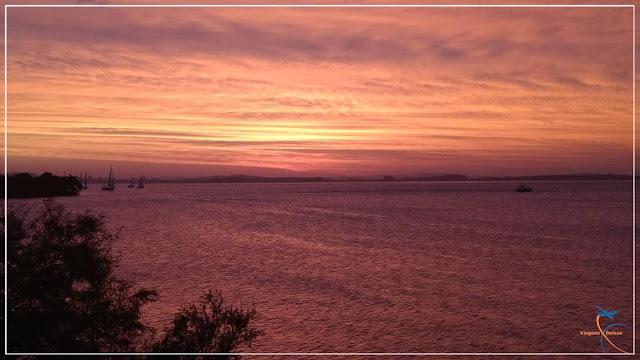pôr do sol no Guaíba
