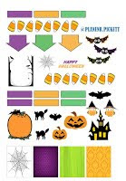 free halloween planner sticker printable