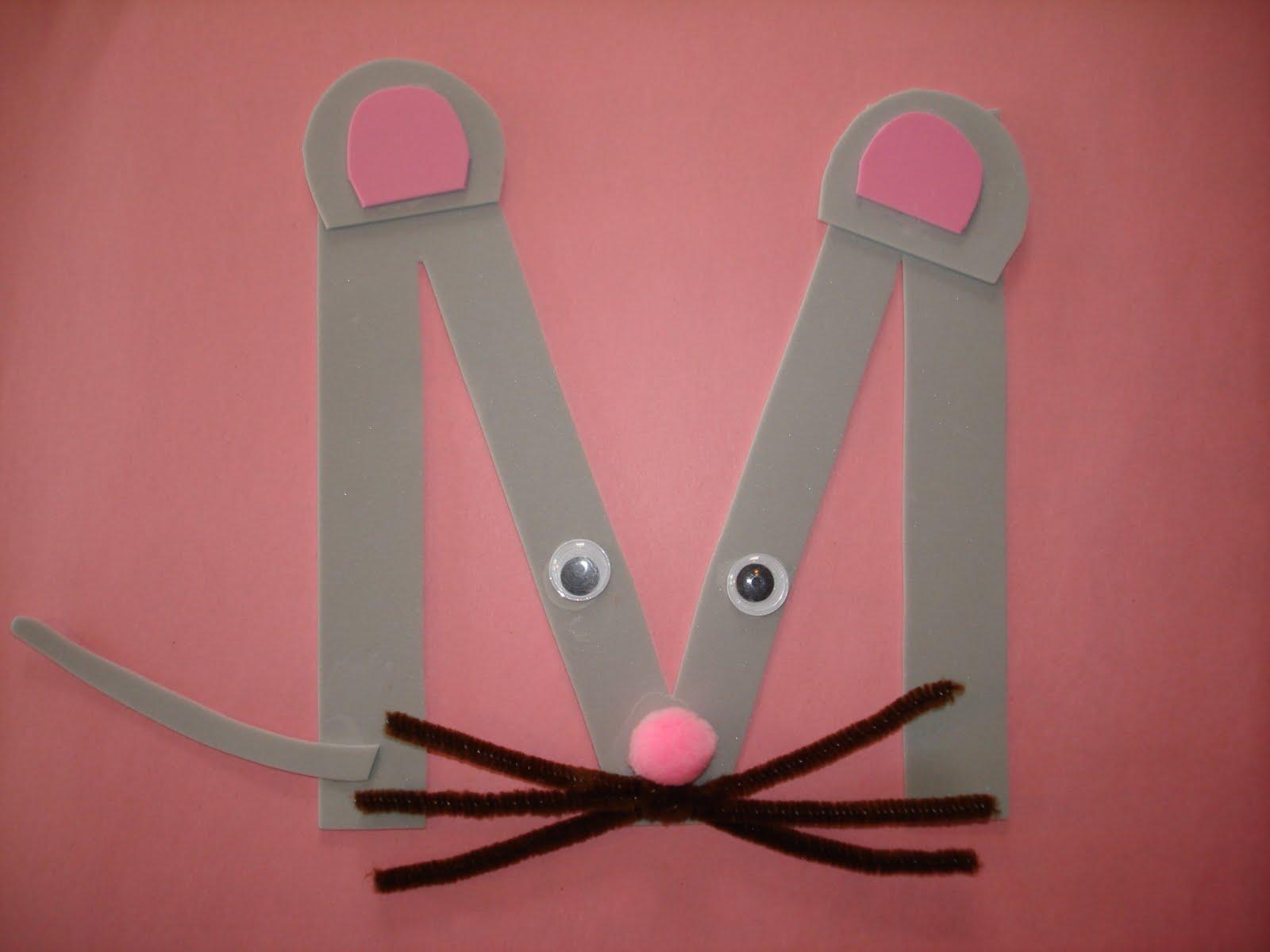 """Letter """"M"""" Mouse"""