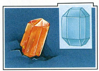 The atoms of topaz form orthorhombic crystals.