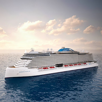 Artists Rendering  of Norwegian Cruise Line's New Class of  Ship - The Leonardo Class Expected in 2020.