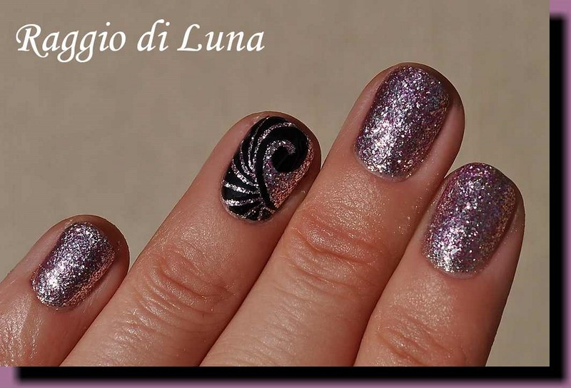 Raggio di Luna Nails: UV gel manicure with free-hand nail art ...