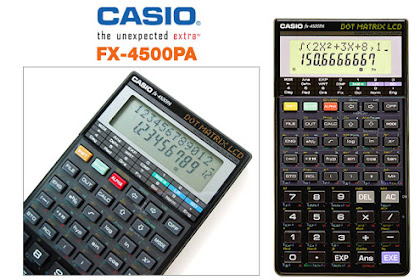 7 PROGRAM SURVEY KALKULATOR CASIO FX-4500pa