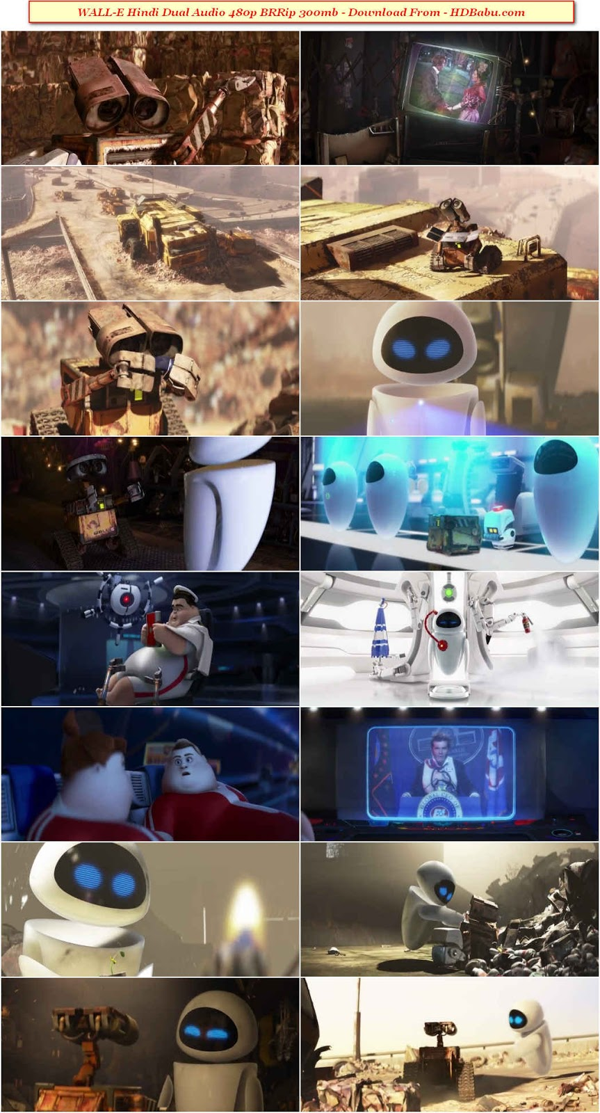 Wall E Dual Audio Movie Download