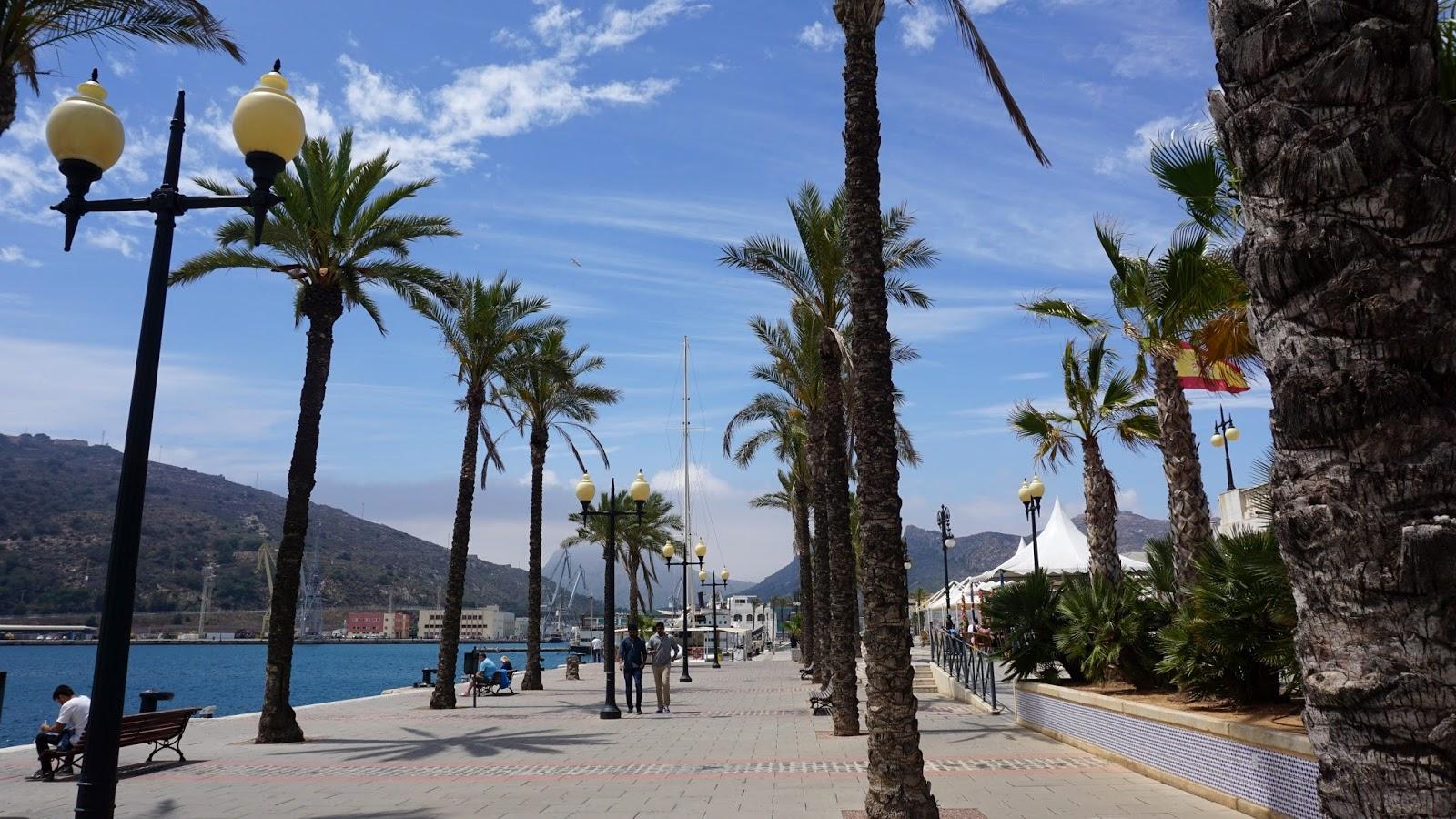 port Kartagena, Kartagena, atrakcje Hiszpanii, południowa Hiszpania miasta, prowincja Murcja,  Costa Calida