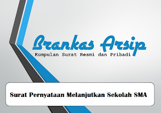 logo postingan contoh surat pernyataan melanjutkan sekolah ke SMA