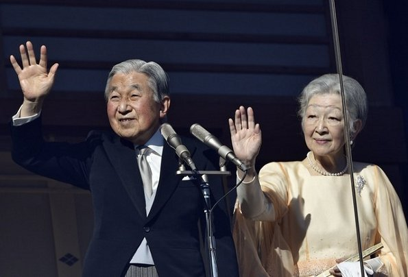 Crown Princess Masako, Crown Prince Naruhito, Empress Michiko, Prince Akishino, Princess Kiko, Princess Mako