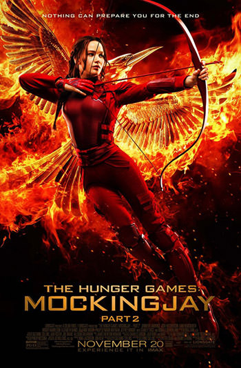 The Hunger Games Mockingjay Part 2 2015 Dual Audio ORG Hindi 720p BluRay 1GB ESubs poster