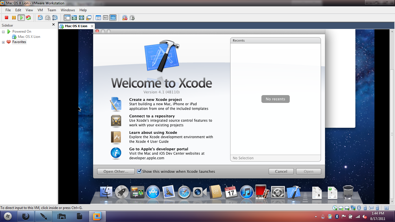 xcode version for mac os x 10.6.8