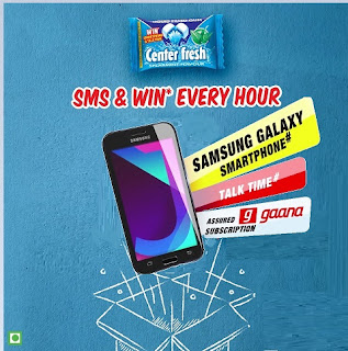 center fresh, center fresh contest, center fresh samsung mobile contest, samsung smartphone and talk time contest, win free gaana app