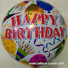 Balon Foil Bulat Motif HAPPY BIRTHDAY / Balon Bulat Foil HBD (05)