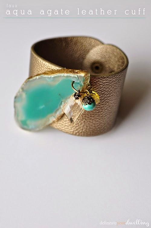faux-aqua-agate-leather-cuff-bracelette