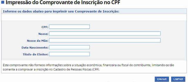 Segunda via CPF como tirar
