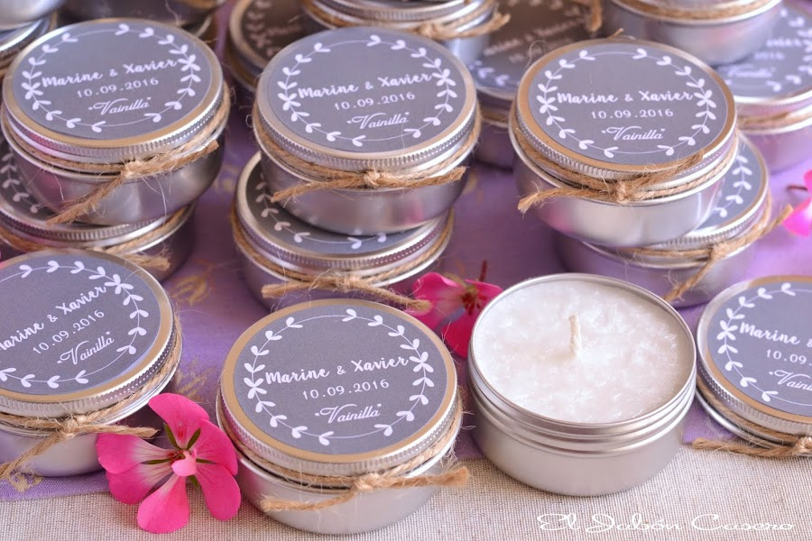 Detalles de boda velas artesanales aromaticas