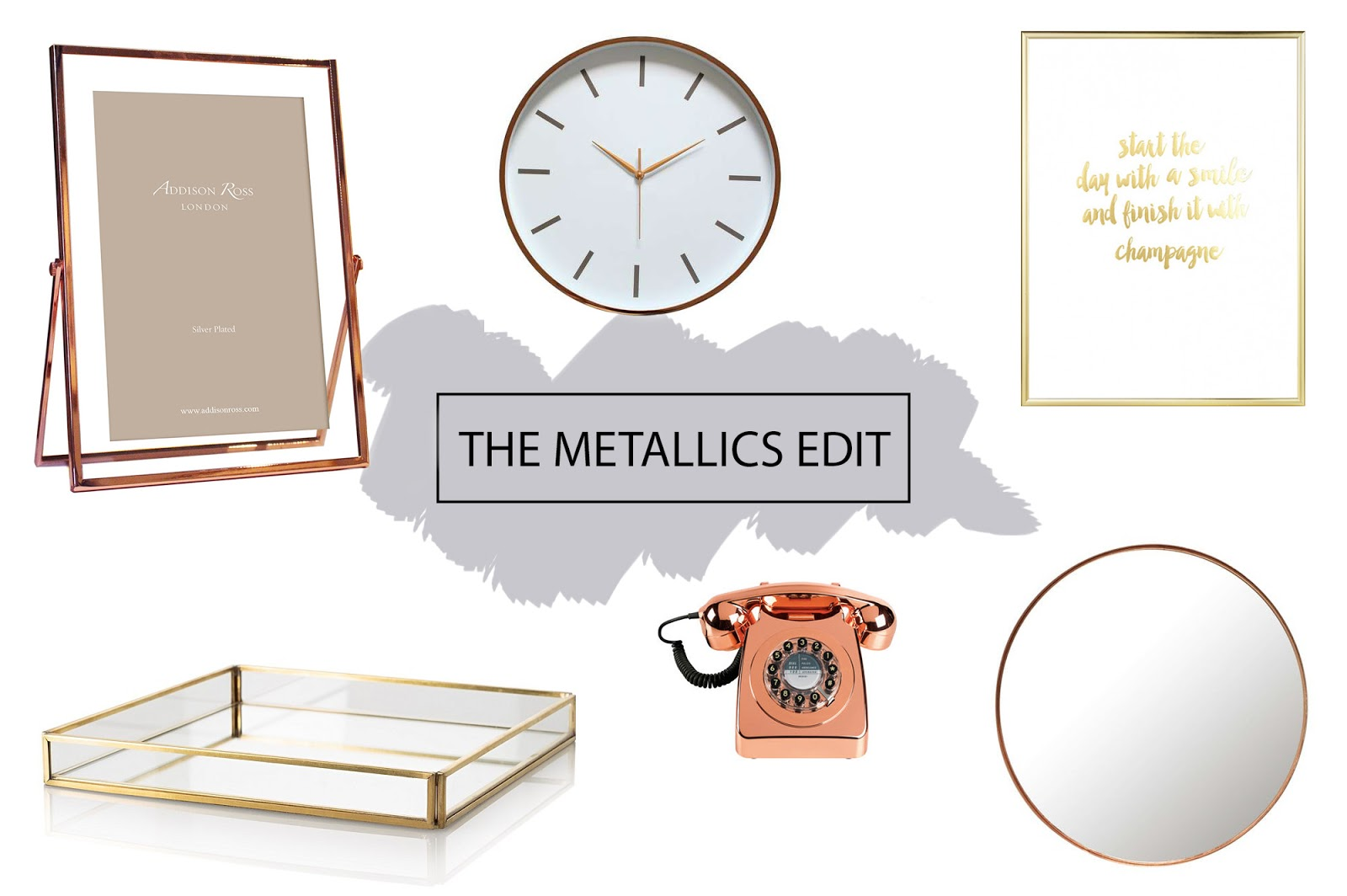 Image of rose gold and copper home accessories