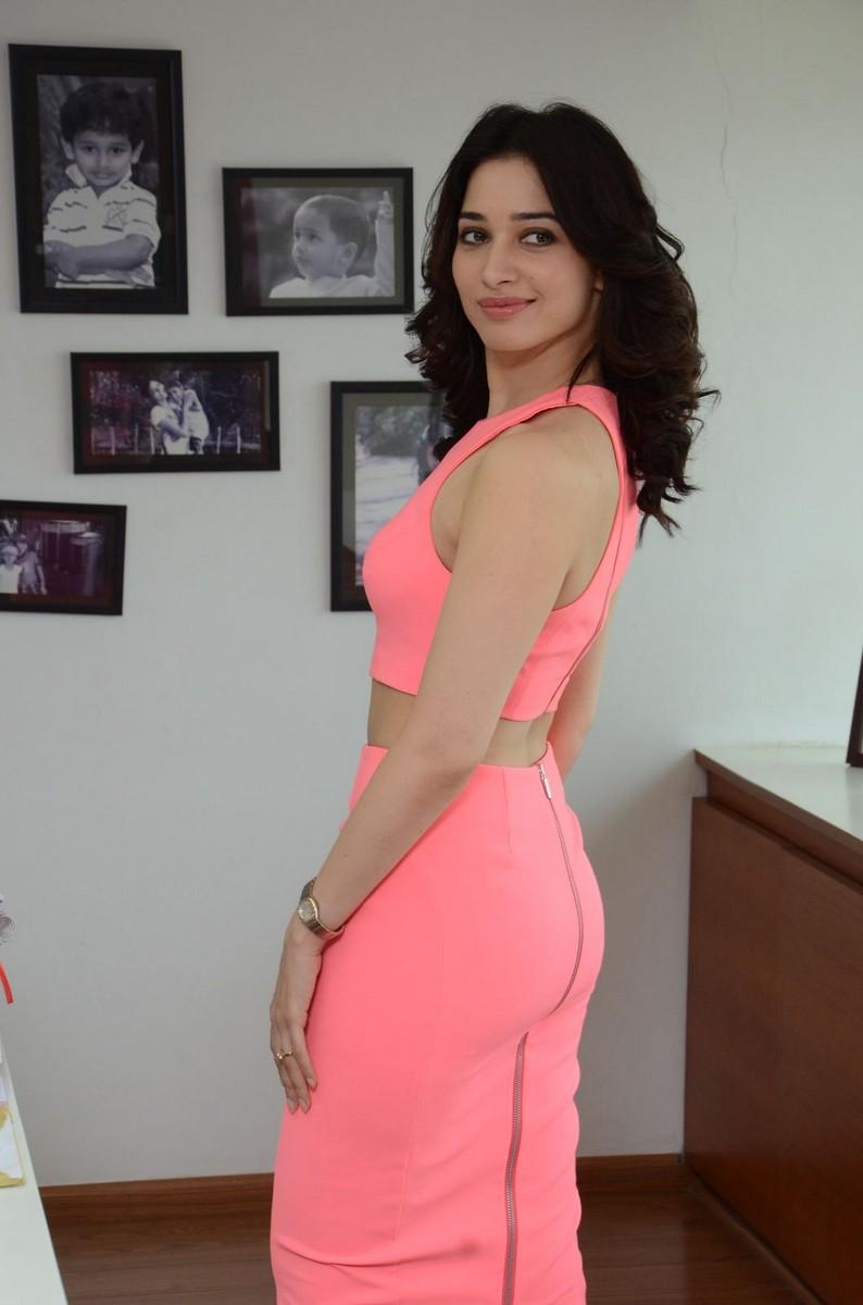 Tamanna Stills From Oopiri Movie In Pink Dress