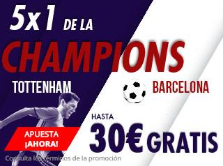 suertia promocion 30 euros Tottenham vs Barcelona 3 octubre