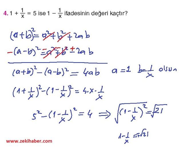 11. Sınıf Top Yayınları Matematik 12. Sayfa Cevapları 1. Ünite