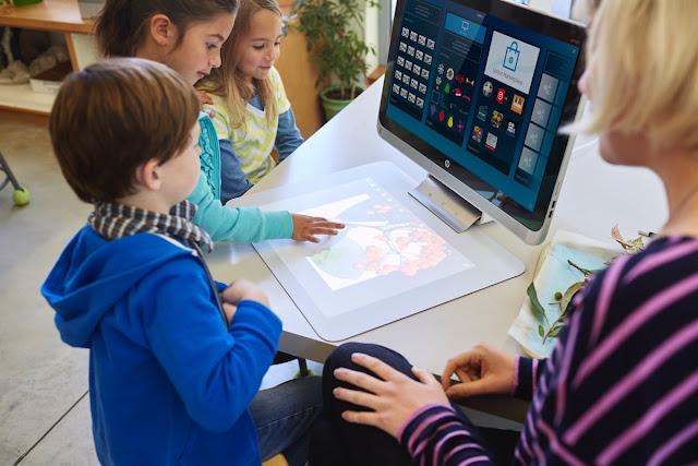 дети знакомятся с 3D-моноблоком HP Sprout Pro