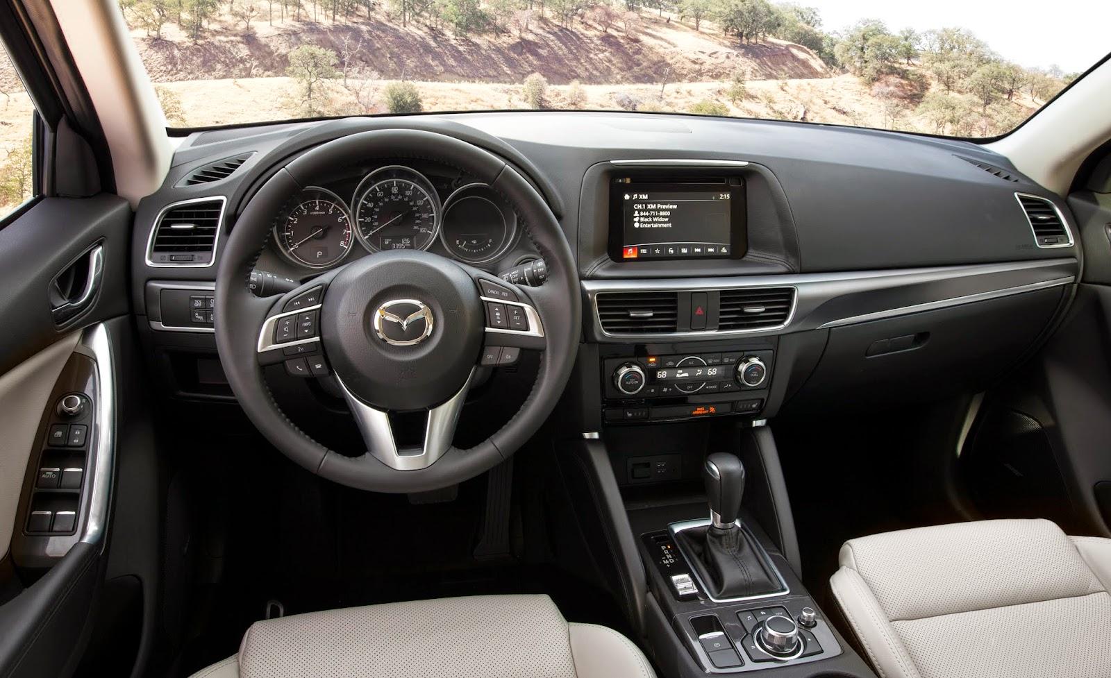 Interior view of the 2016 Mazda CX-5