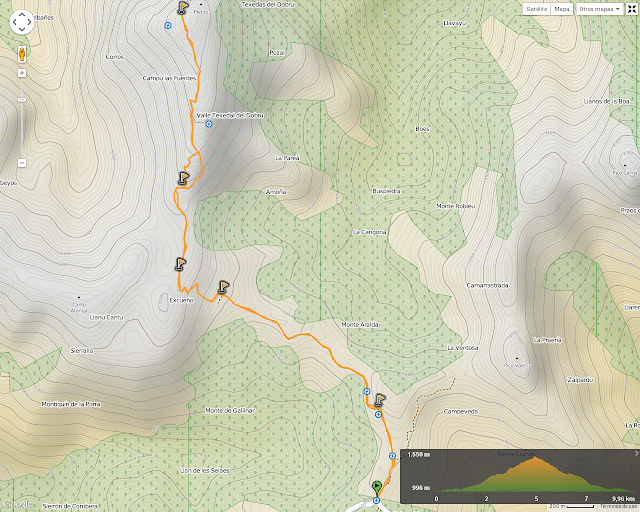 Ruta al Pico Pierzu: Mapa de la ruta