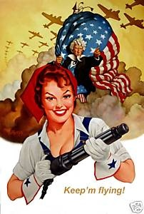Rosie Riveter world war II poster worldwartwo.filminspector.com
