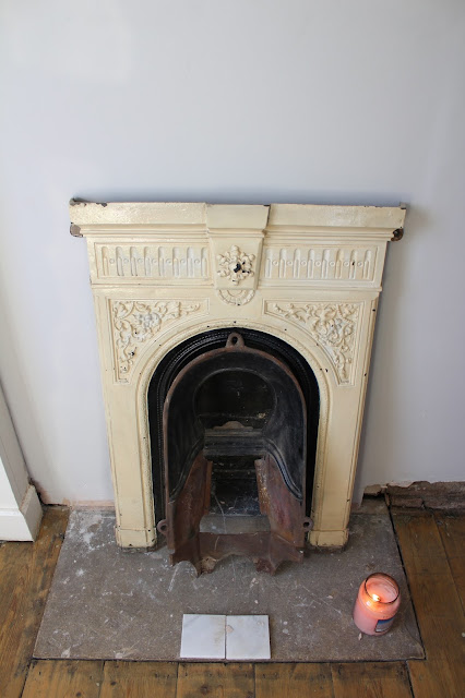 unfinished victorian fireplace