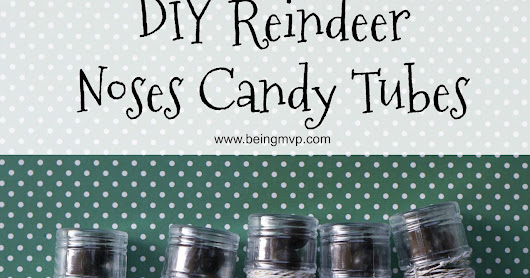 DIY Reindeer Noses Candy Tubes Craft @OrientalTrading