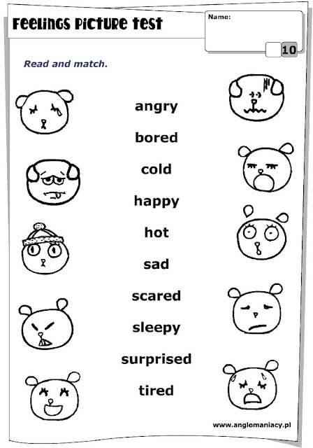 Bfa School Of English More Activities About Feelings