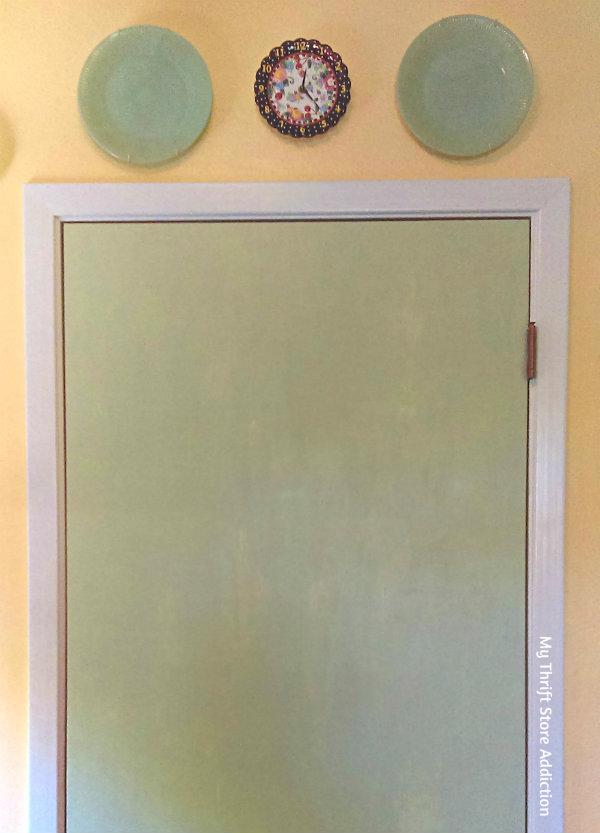 hollow core door vintage inspired upcycle