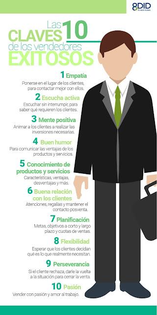 10 claves de los vendedores exitosos