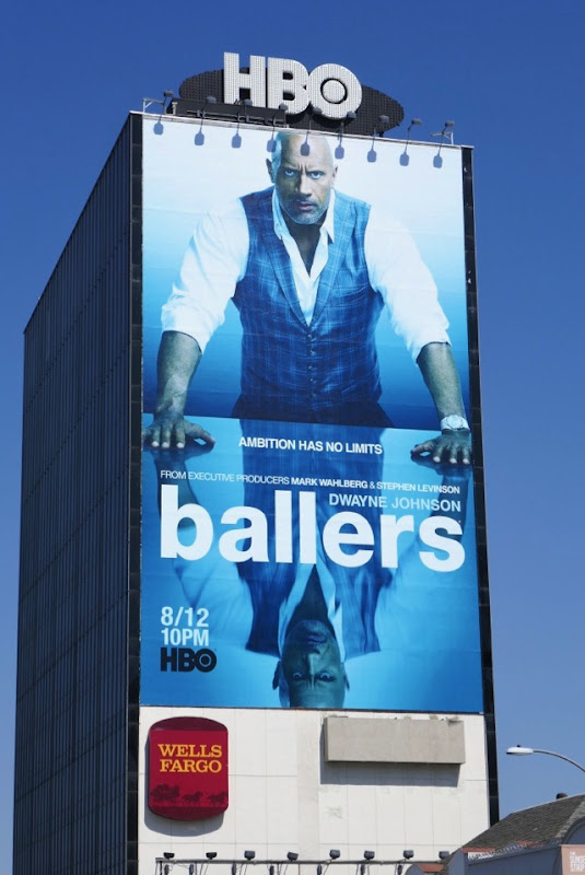 Giant Dwayne Johnson Ballers season 4 billboard