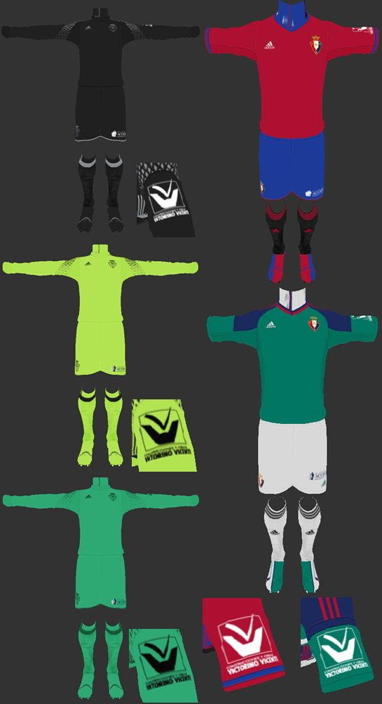 PES 2013 Osasuna Full Kits 2016-2017