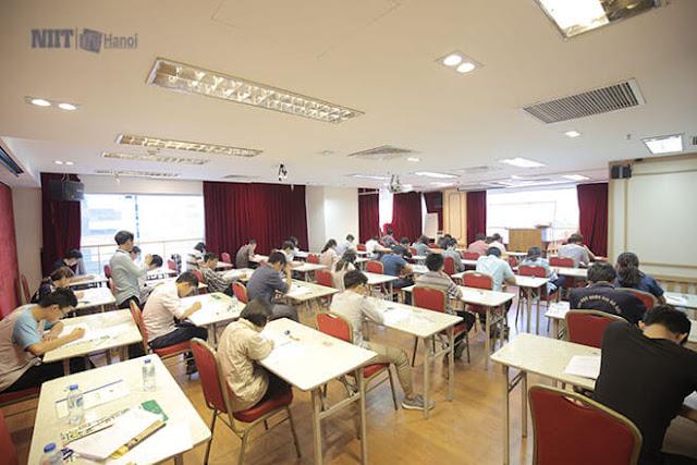 Các thí sinh tham gia kỳ thi sát hạch Kỳ thi sát hạch kỹ sư CNTT theo chuẩn kỹ năng CNTT Nhật Bản