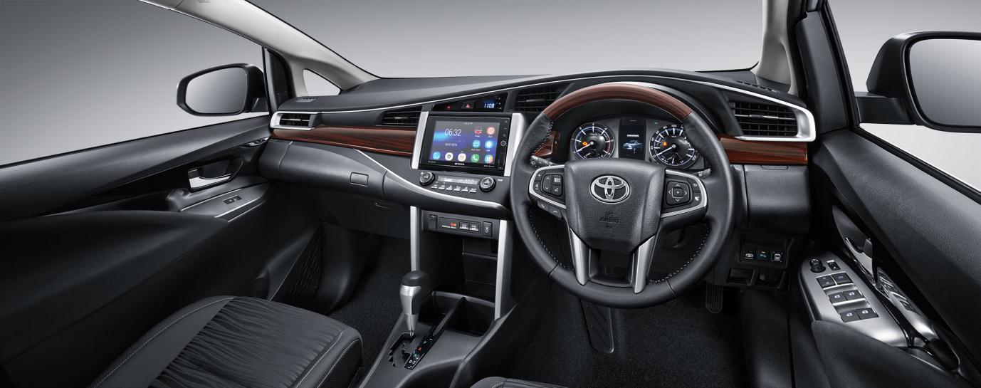 Speedometer All New Kijang Innova Harga Alphard Type X Interior Toyota 2015 Astra Indonesia Pada Bagian Desain Kayu Kini Dibuat Lurus Sehingga Membentuk Garis Dari Ujung Ke Juga Kemudi Bila Dibandingkan Dengan Tipe Lama