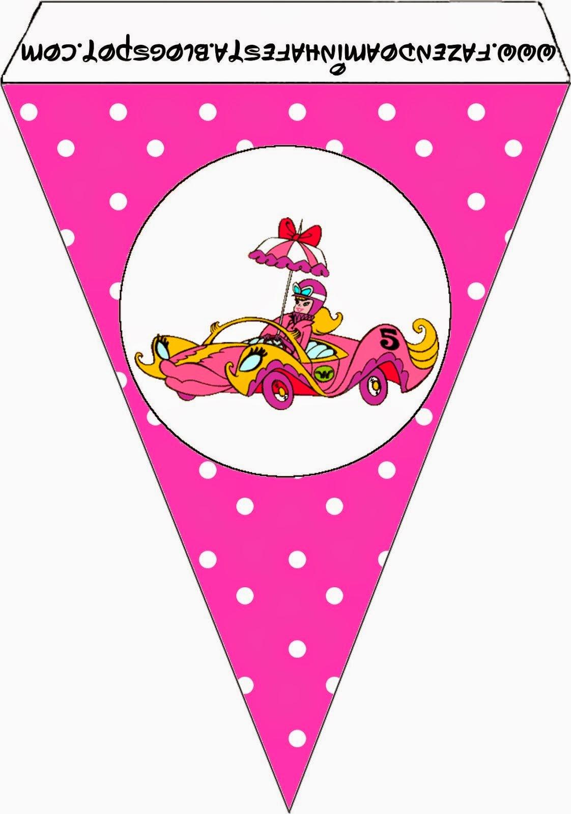 Banderiness de Penelope Glamour Retro para imprimir gratis.