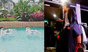 Sao Hàn 8/4: Se Hun khoe da trắng trong hồ bơi, G-Dragon mặc quần như váy