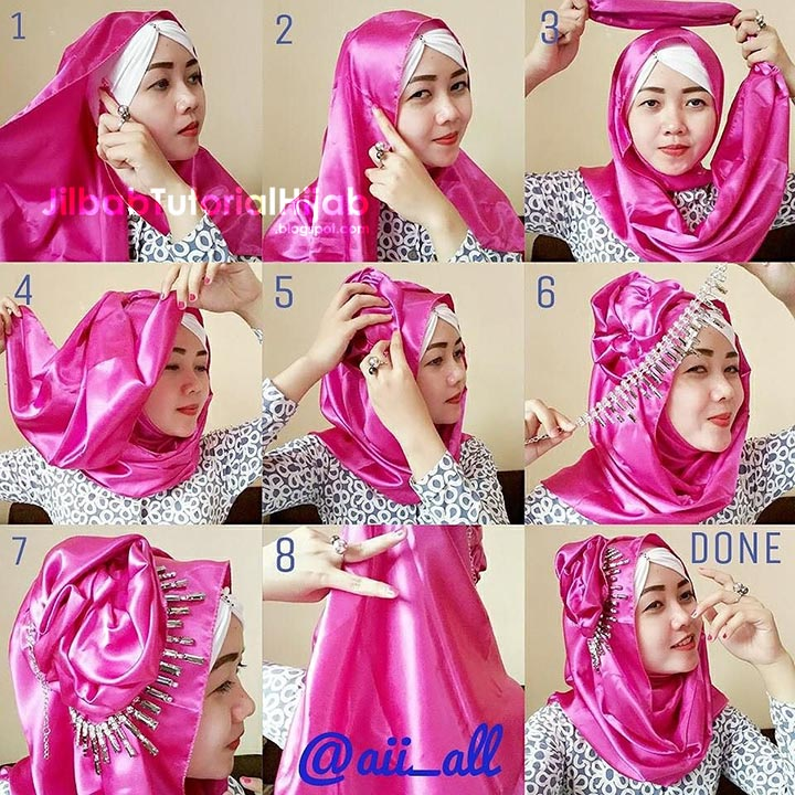 6 Tutorial Hijab Pashmina Untuk Pesta Simpang7 Com