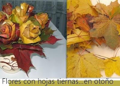 Como hacer un Ramo de Flores con Hojas de Arboles