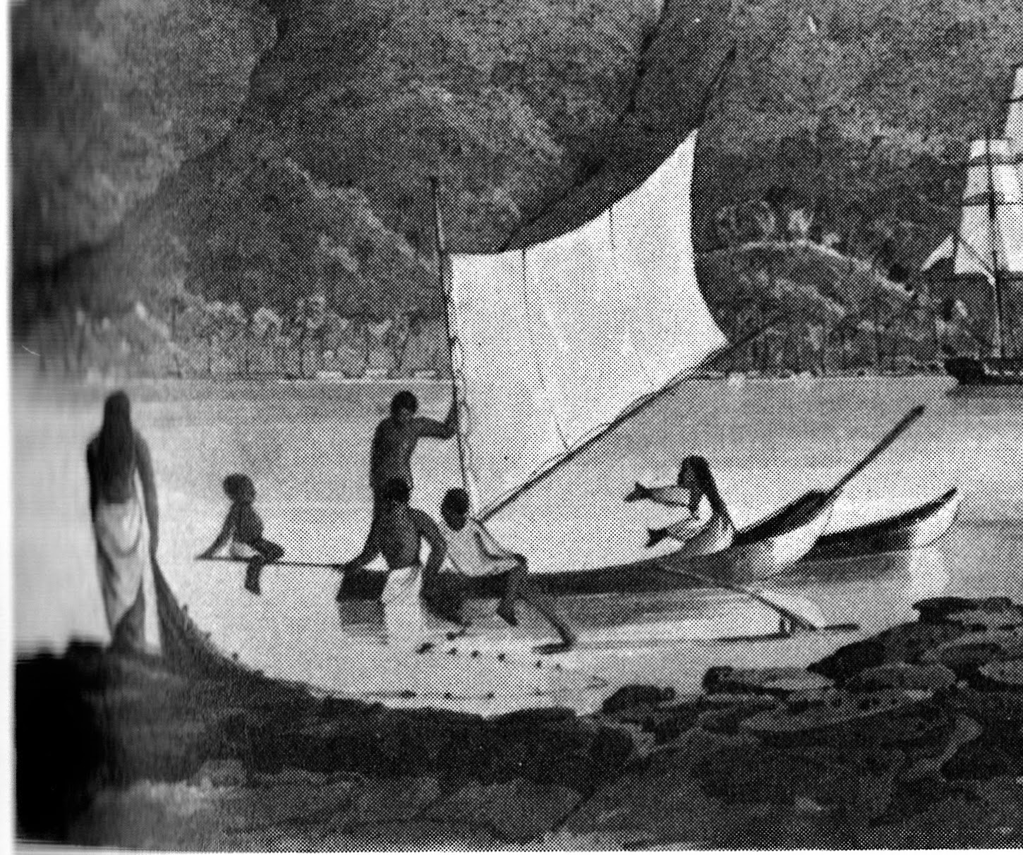 Tahitian dugout canoe by Capt. Henry Byam Martin, RN